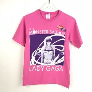 Lady GaGa Monster Ball Tour 2009 pink concert Tee
